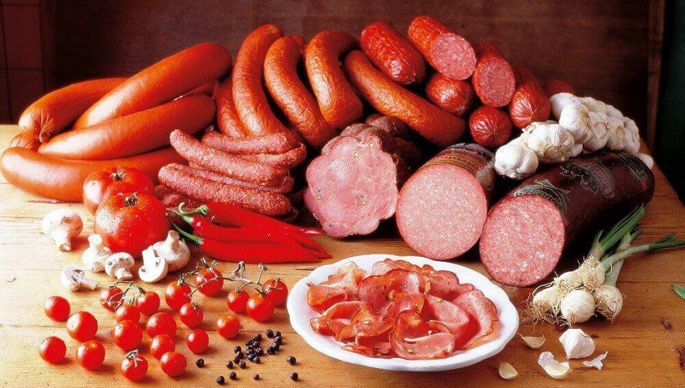 forarbejdet kød