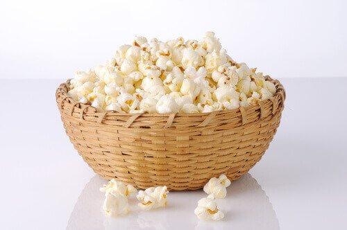 hjemmelavet popcorn
