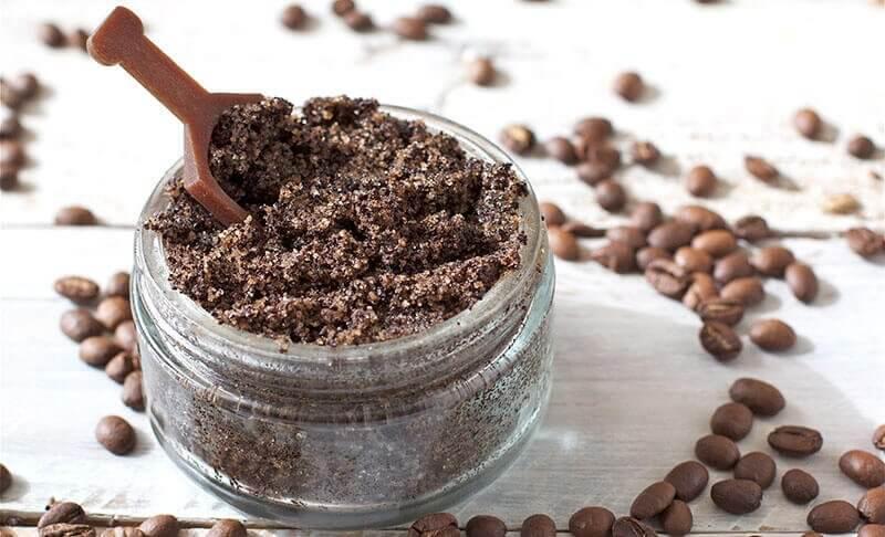 kaffegrums og kokosolie