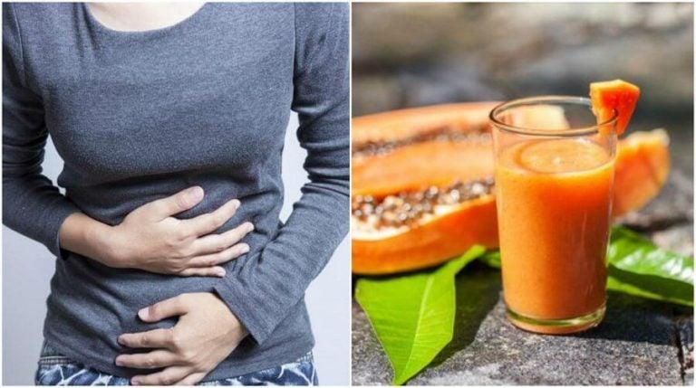 Papaya, grøn te, og aloe vera mod oppustet mave