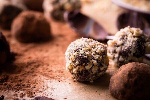 Lav kalorielette chokoladetrøfler