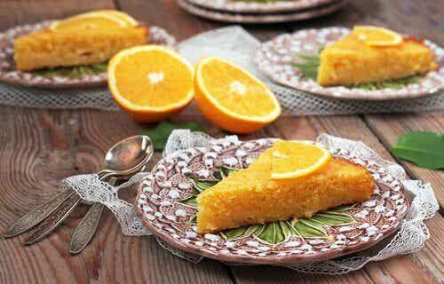 To appelsinkage opskrifter med sunde ingredienser
