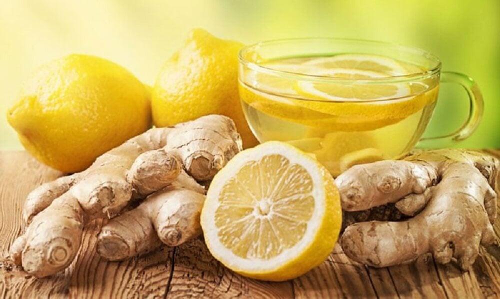 Citron og ingefær