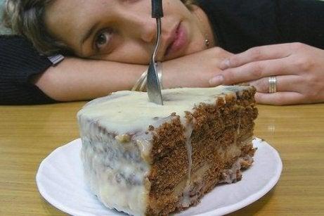 Stort stykke kage