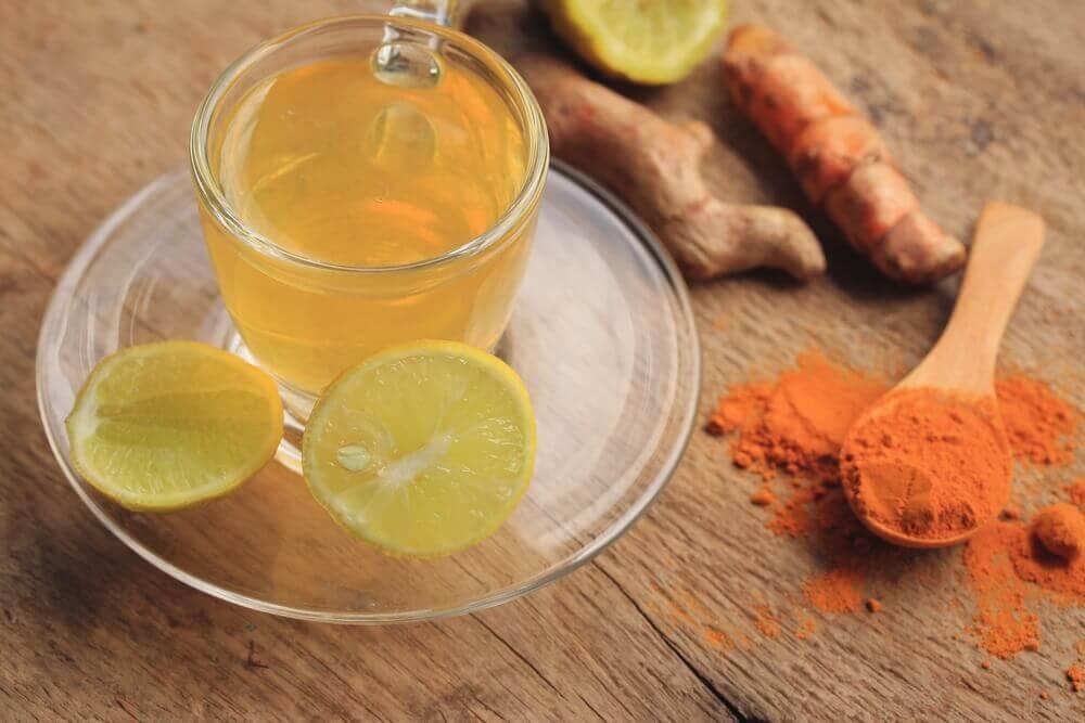 Ingefær og citronte