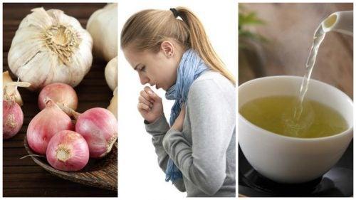 Et naturligt hvidløg og løg middel mod hoste
