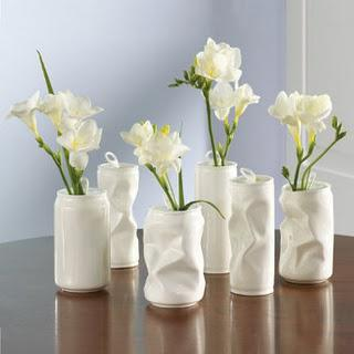 blomstervaser af dåser