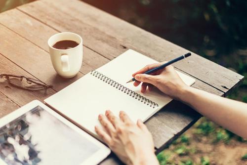 At skrive hvad du føler kan hjælpe dig med at bearbejde dine følelser