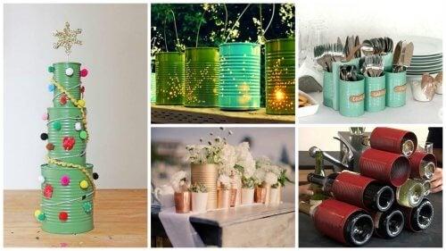 19 kreative måder at genbruge dåser på