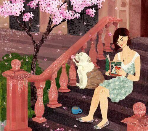 Sommetider glemmer man alt om tid og sted, fordi man f.eks. blive opslugt af en god bog. Det er lykke