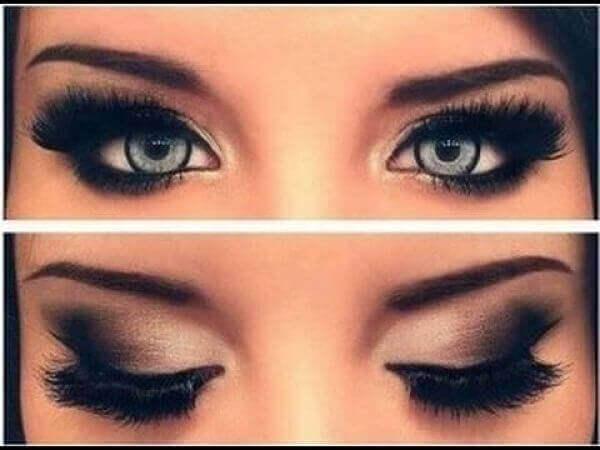Små øjne og makeup.