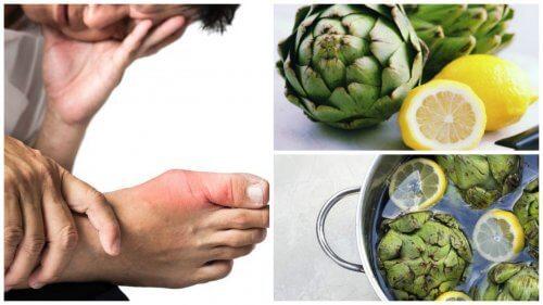 Sådan kan du eliminere urinsyre med artiskok og citronvand