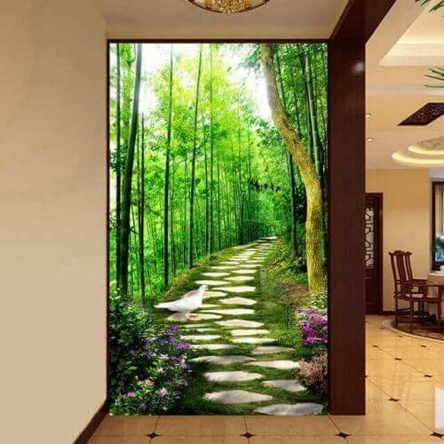 Du kan benytte vægmalerier når du skal indrette gange