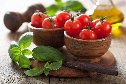 Tomater og mynte
