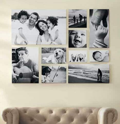 Lav en kollage med familiebilleder