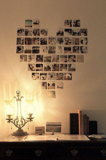 Hæng dine fotos op i en bestemt form