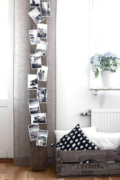 En lodret tavle vil få dit rum til at se større ud