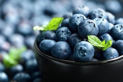 Blåbær er rige på antioxidanter og fibre