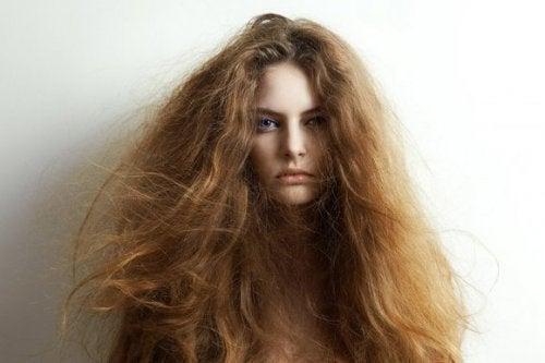 5 naturlige ingredienser til behandling af tørt hår