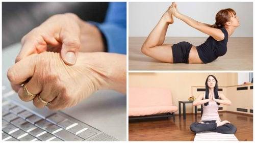 Afhjælp karpaltunnelsyndrom med disse 5 yogastillinger