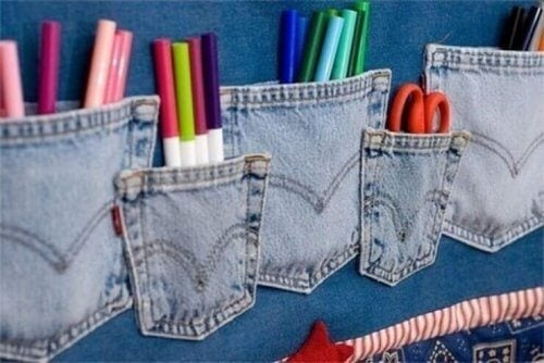 Dine gamle jeans kan omdannes til blyantsholdere
