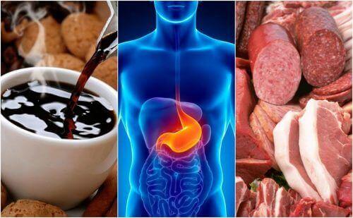 Otte fødevarer der forårsager halsbrand