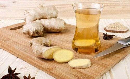 Ingefør te er godt for din huds sundhed