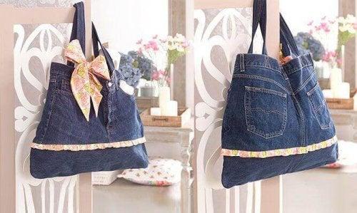Du kan lave smarte tasker ud af dine gamle jeans