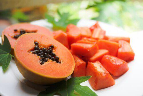 Papaya kan mindske store porer