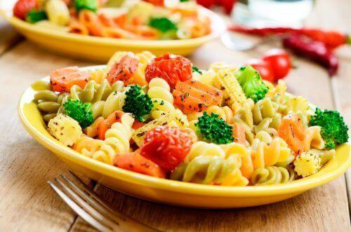 Pasta med grøntsager