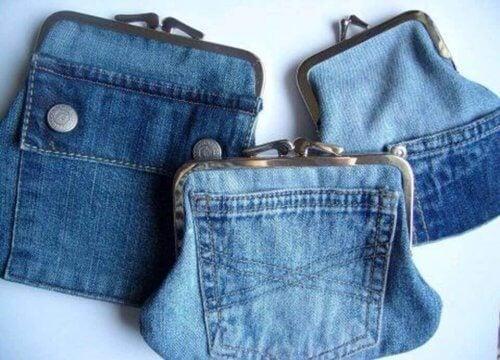 En anden god idé er at lave en pengepung ud af lommerne