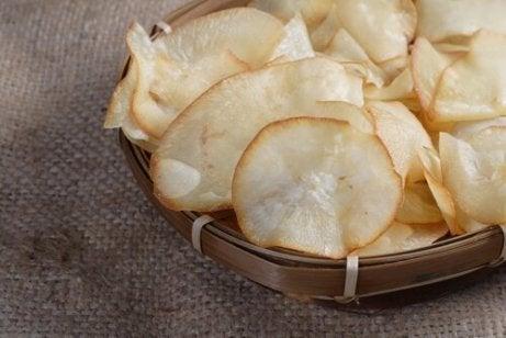Chips af yucca