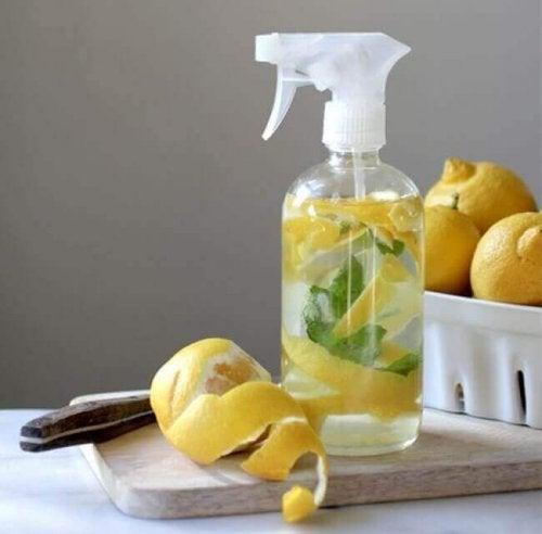 Dette gulvrengøringsmiddel med citrus er nemt og billigt at lave