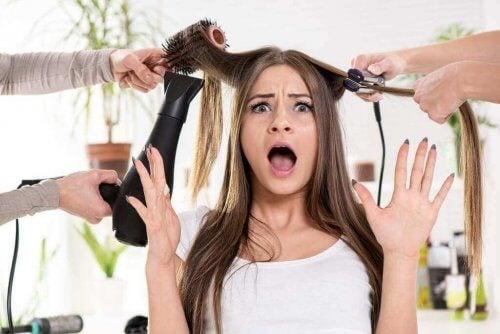 For meget varme er ikke godt for dit hår