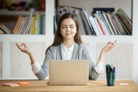 En kvinde, der besluttede at klare stress