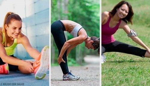 Kvinder strækker sig før træning