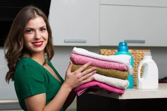 Få bløde håndklæder med naturligt skyllemiddel