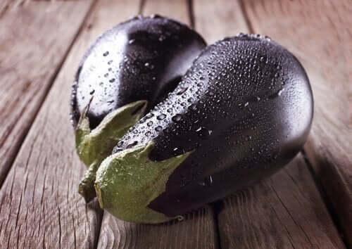friske auberginer