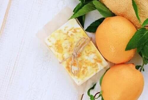 Glycerin sæber med appelsinduft