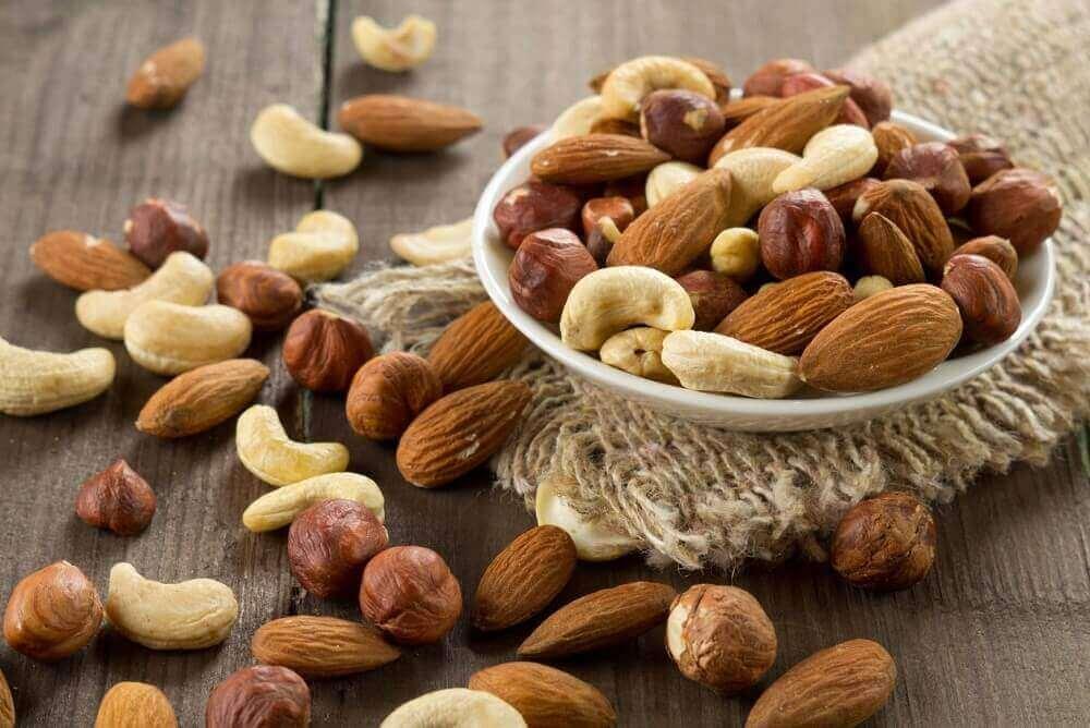 Nødder inholder mange aminosyrer og essentielle mineraler