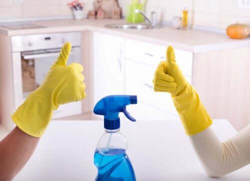 par klar til rengøring