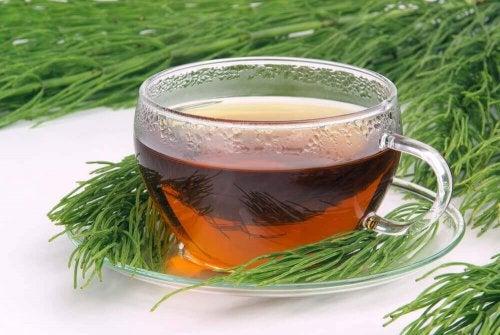 En kop te med padderok