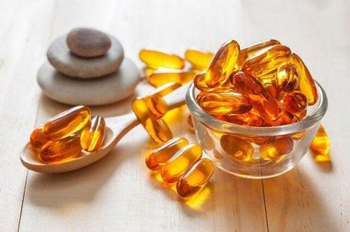 Skål med vitaminpiller