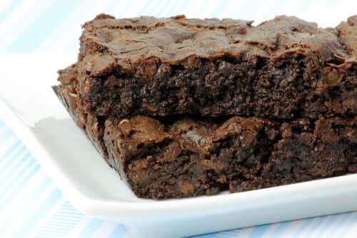 Et stykke chokoladekage