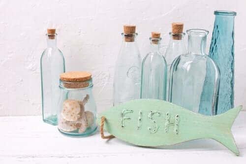 Glasflasker til nautisk indretning