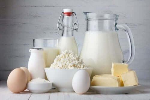 Mejeriprodukter er tit en del af en kost uden at spise kød