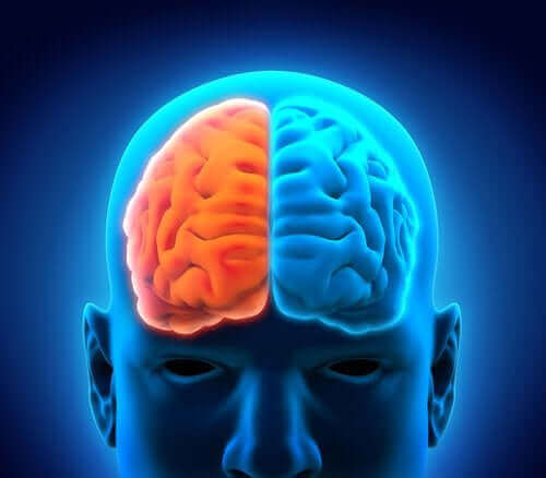 Illustration af, hvordan depression påvirker hjernen
