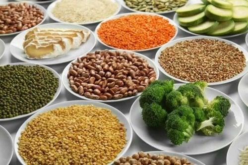 Fødevarer i en vegetarisk kost