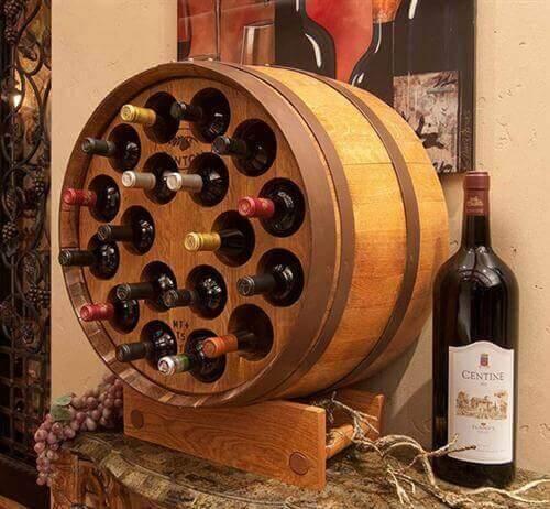 Vintønde med mange slags vin