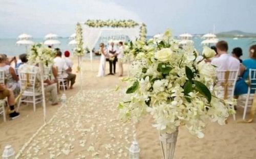 Strand bryllup